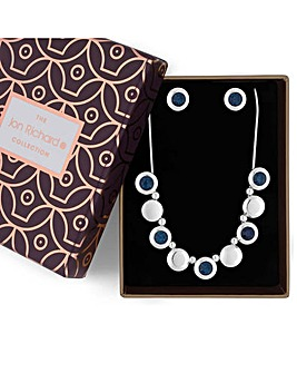 Jon Richard Blue Crystal Jewellery Set