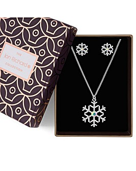 Jon Richard Snowflake Jewellery Set