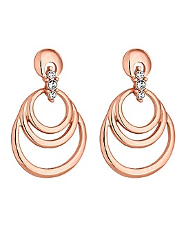 Jon Richard Open Circle Drop Earring