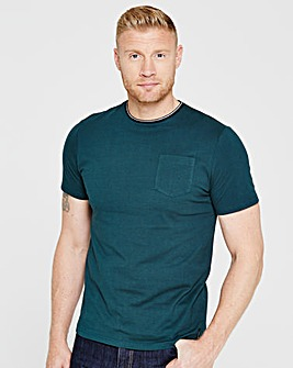 Flintoff By Jacamo Pocket T-Shirt Reg