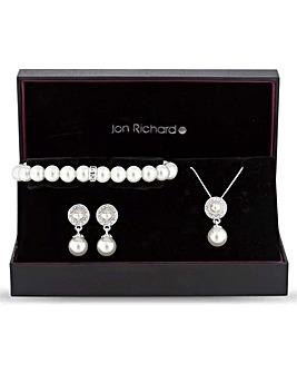 Jon Richard Pearl Disc Jewellery Set