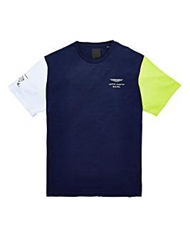 Hackett Mighty AMR Colourblock T-Shirt