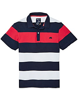 Raging Bull Mighty Stripe Polo Shirt