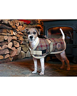 Checker Quilted Dog Coat