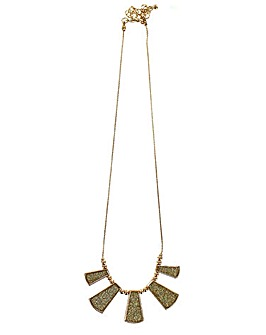 Lizzie Lee Sparkle Fan Necklace