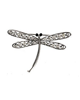 Lizzie Lee Crystal Dragonfly Brooch