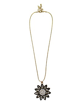 Lizzie Lee Crystal Flower Pendant