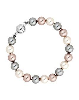 Jon Richard Triple Tone Pearl Bracelet
