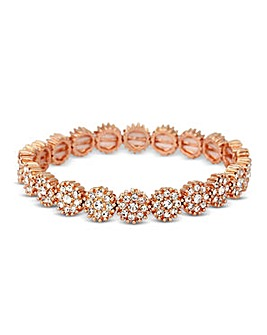 Jon Richard Crystal Rose Gold Bracelet