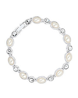 Jon Richard Pearl Tennis Bracelet