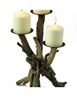 Natural Driftwood Votive CandleHolder