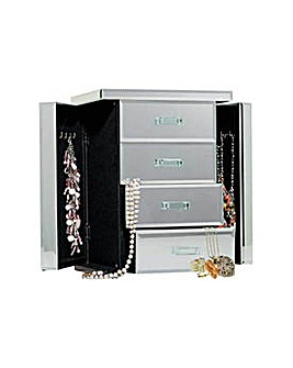Mirrored Jewellery Box - 2 Compartments