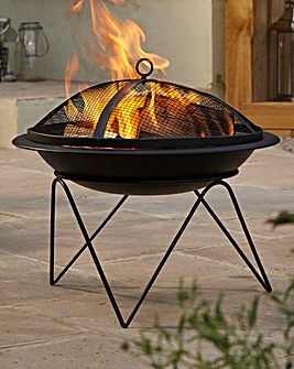 Quasar Steel Fire Pit and BBQ Grill