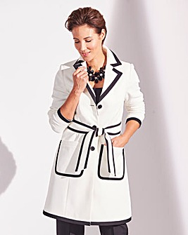 Textured Contrast Trim Coat