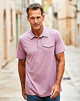 Premier Man Purple Tailored Collar Polo