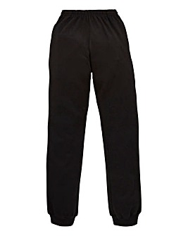 Capsule Black Cuffed Jogging Pant 29in