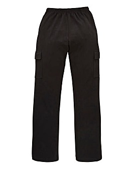 Capsule Black Cargo Trousers 27in