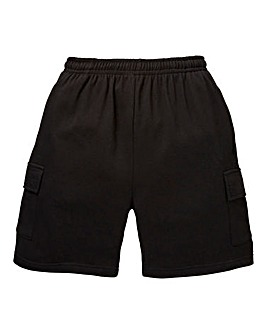 Capsule Black Leisure Cargo Shorts