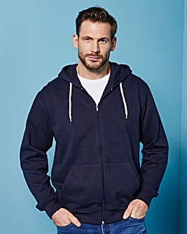 Capsule Navy Full Zip Hoody Long