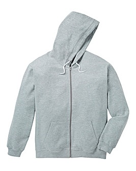Capsule Grey Full Zip Hoody Long