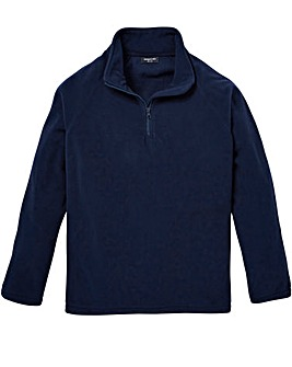 Capsule Navy Zip Neck Fleece