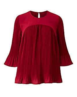 Berry Pleated Blouse