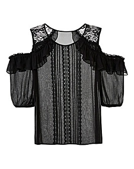 Black Victoriana Cold Shoulder