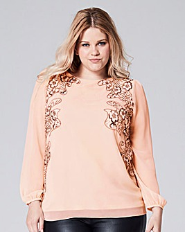 Sequin Cut Out Top