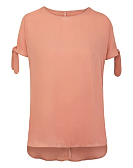 Peach Tie Cold Shoulder