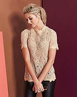 Blush Cornelli Lace Shell Top