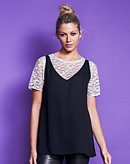 Black Layered Lace Cami