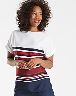 Navy Stripe Boxy Top