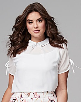 JEWELLED COLLAR SHIRT