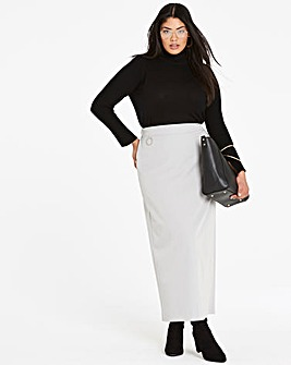 Smart Tailored Maxi Pencil Skirt