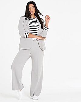 Wide Leg Tailored Trouser Long