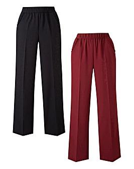 2pk Workwear Wide Leg Trousers