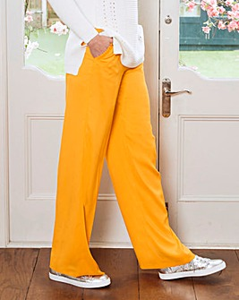 Frill Pocket Wide Leg Trousers