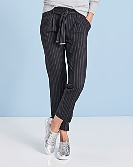 Pinstripe Tapered Trousers Reg