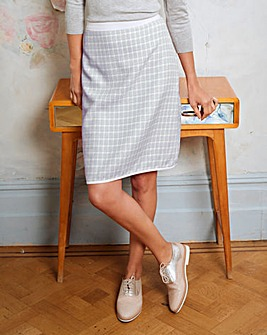 Check A Line Jacquard Skirt