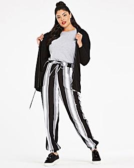 Stripe Woven Harem Trousers Reg