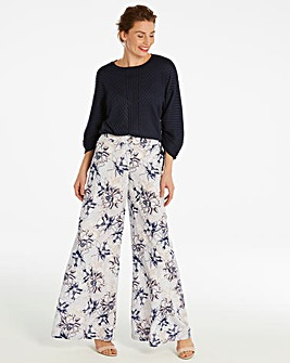 Floral Superwide Leg Trousers Regular