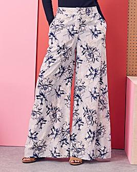 Floral Superwide Leg Trousers Regular