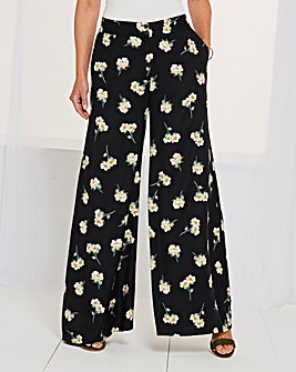 Print Superwide Leg Trousers Reg