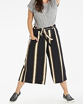 Stripe Tie Waist Stretch Jersey Culotte