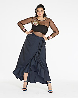Frill Edge Maxi Skirt