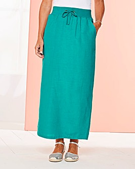Slouch Linen Mix Maxi Skirt