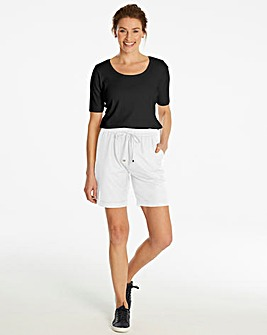 Petite Essential Linen Mix Shorts