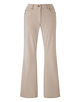 Petite Babycord Bootcut Stretch Trousers