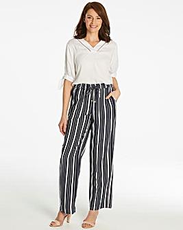 Essential Stripe Linen Mix Trouser Reg