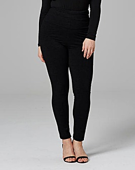 High Waisted Plain Leggings Regular